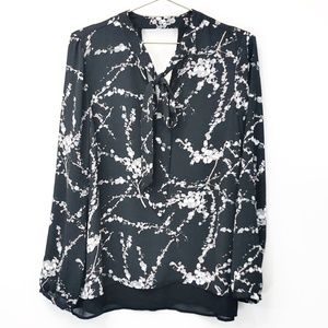 DR2 Tie Neck Lined Blouse